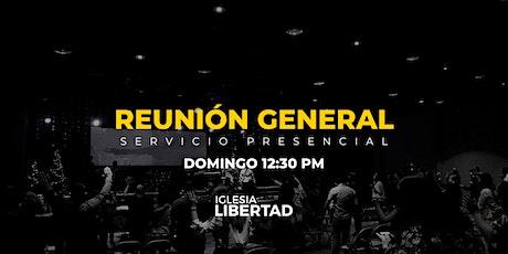 Reunión General | Domingo 12:30 PM boletos