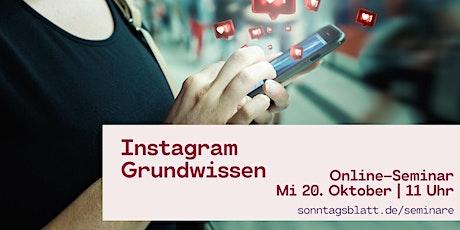 Instagram für Anfänger Tickets