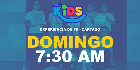 Kids Cartago. Experiencia de Fe  7:30am entradas