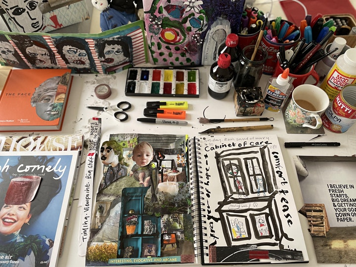 A Cabinet of Care: Visual Journaling image