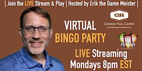 Virtual BINGO Monday - Grange Hall Games | FREE to Play! tickets