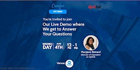 Casefee Live Demo tickets