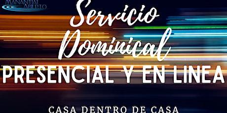 Servicio Dominical 8 AGOSTO boletos