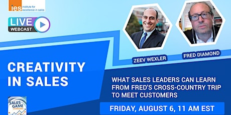CREATIVITY IN SALES: Sales Lessons from Fred's Cross-Country Trip tickets