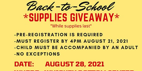 Back-to-School Supplies Giveaway tickets