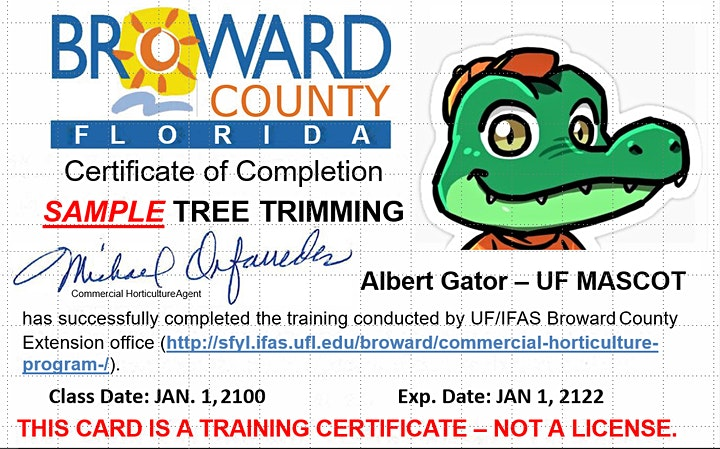 ON-LINE! Tree Trimmer Certification: ADVANCED ENGLISH image
