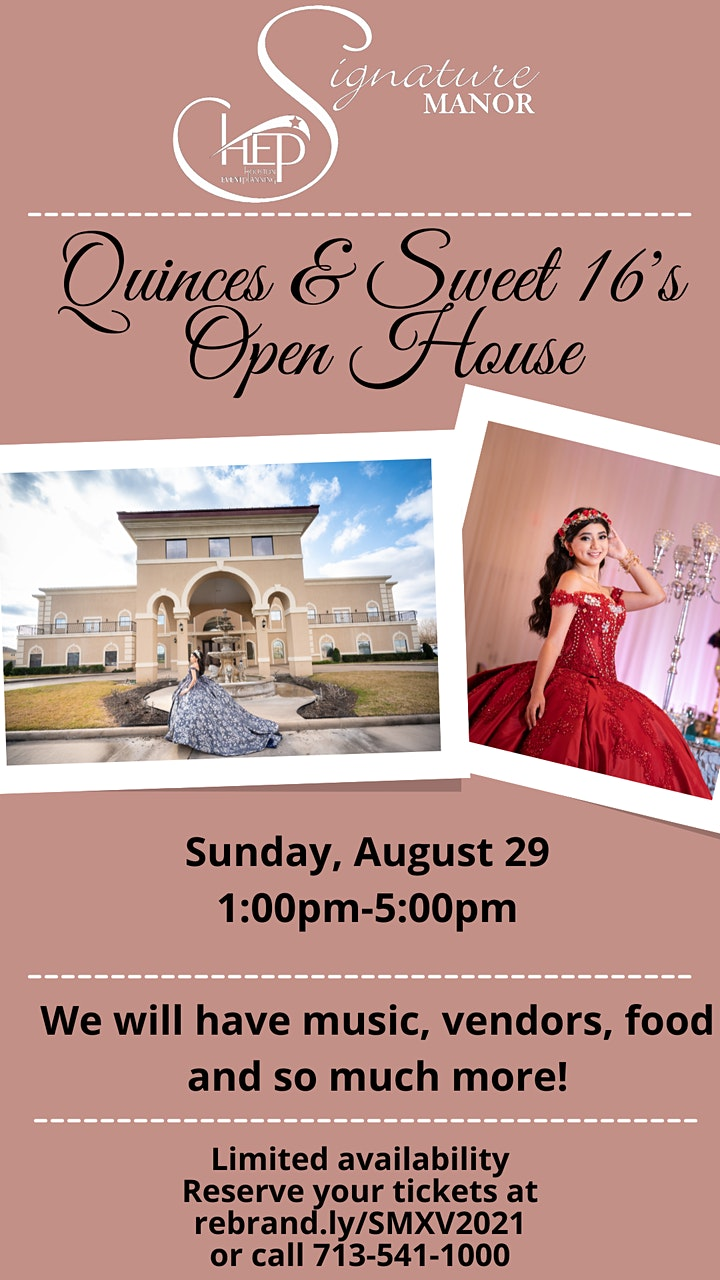 Signature Manor's  Quinces & Sweet 16's Open House image