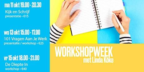 Workshopweek: 101 Vragen aan je Werk (woensdag 13 oktober 2021) tickets