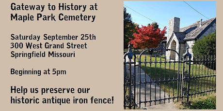 Gateway to History at Maple Park Cemetery tickets
