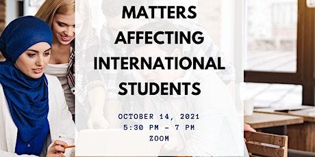 Financial Matters Affecting International Students tickets