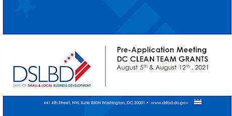 Pre-Application Meeting DC Clean Teams tickets