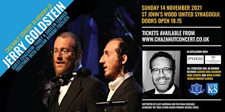 Chazanut Concert in Memory of Jerry Goldstein tickets