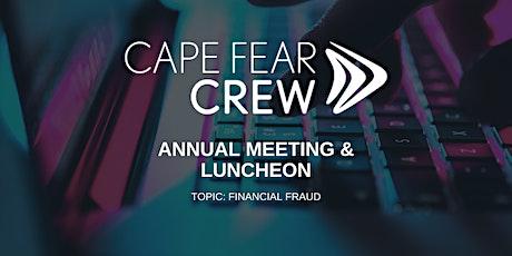 "Annual Meeting & ""Financial Fraud"" Luncheon tickets"
