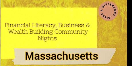 Financial Literacy, Business & Investing Community Night (Massachusetts) tickets