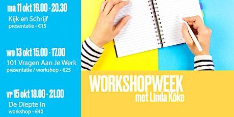 Workshopweek: De Diepte In (vrijdag 15 oktober 2021) tickets