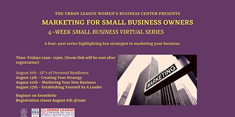 Marketing For Small Business Owners tickets