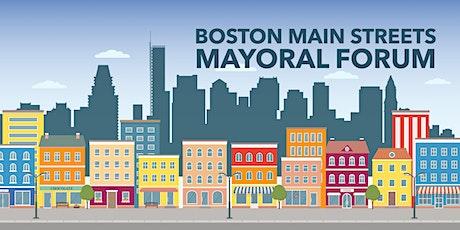 Boston Main Streets Mayoral Forum tickets