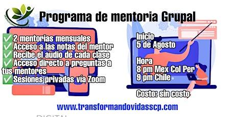 Programa de Mentoría Grupal Transformando Vidas -  Inauguración entradas