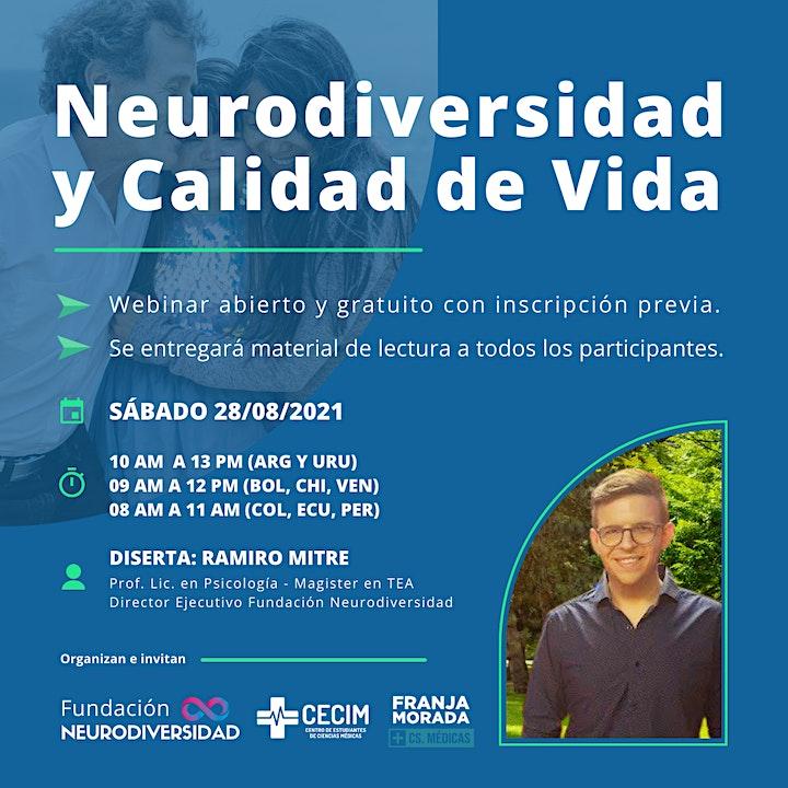 """Imagen de Webinar Gratuito  """"Neurodiversidad y Calidad de Vida"""""""