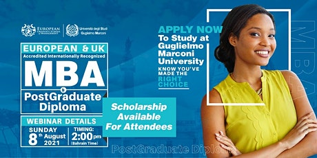 Free European MBA & PGD Webinar and Certificate of Attendance! tickets
