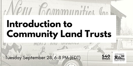 Introduction to Community Land Trusts tickets