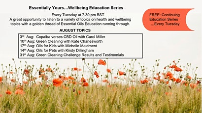 Essentially Yours......Tuesday Evening Wellbeing Education Series tickets