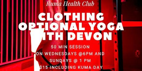 Yoga at Kuma Health Club tickets