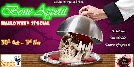 Bone Appetit By Femme Fatalities Murder Mysteries Online. tickets