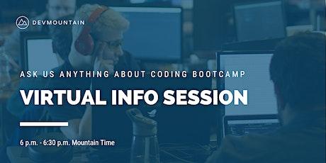 Devmountain Virtual Info Session tickets