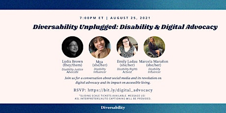 Diversability Unplugged: Disability & Digital Advocacy tickets