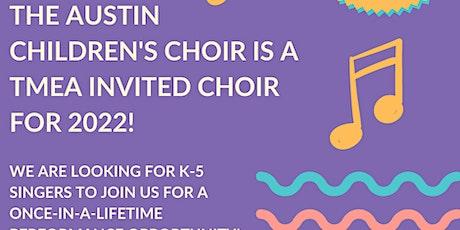Austin Children's Choir Singer Recruitment tickets