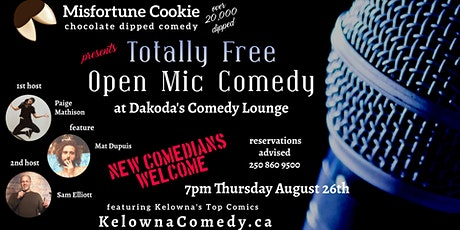 Misfortune Cookie presents Totally Free Open Mic Comedy at Dakoda's tickets