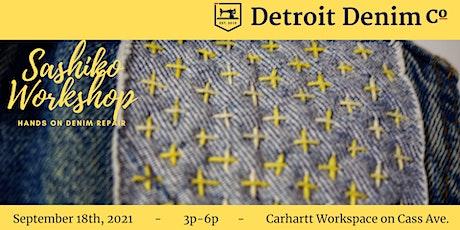 Sashiko Denim Workshop. Learn the Art of Sashiko Mending. tickets