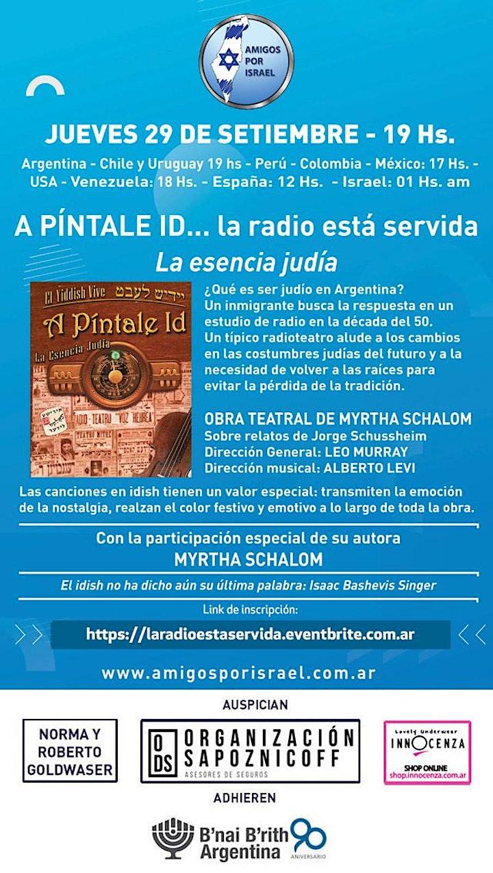 Imagen de OBRA DE TEATRO:  PÍNTALE ID... LA RADIO ESTÁ SERVIDA. LA ESENCIA JUDÍA