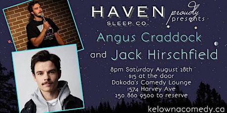 Haven Sleep Co presents Jack Hirschfield & Angus Craddock tickets