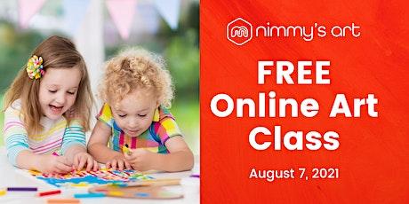 Free Online Art Class for Kids - August 2021 tickets