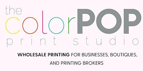 Open House: The ColorPOP Print Studio tickets