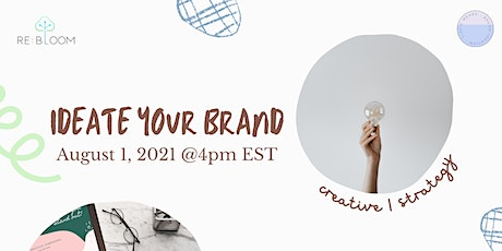 Ideate your Brand tickets