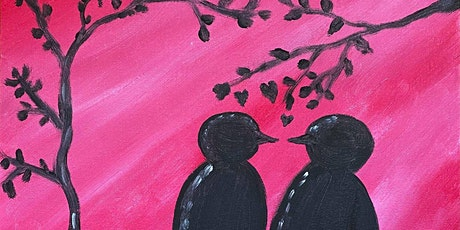 Paint Along ONLINE @ Home -- Kissing Birds tickets