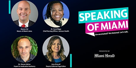 Speaking of Miami: Unvaccinated? We listened. Let's talk. tickets