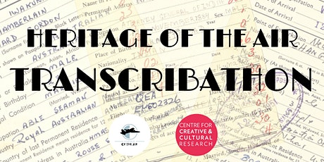 Heritage of the Air Transcribathon tickets