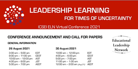 ICSEI ELN Mini Conference | Leadership Learning for Times of Uncertainty tickets