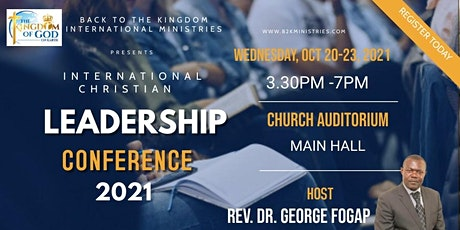 INTERNATIONAL CHRISTIAN LEADERSHIP DEVELOPMENT WORKSHOP 2021 tickets