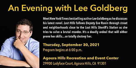 """Meet the Author:  """"An Evening with Lee Goldberg"""" tickets"""