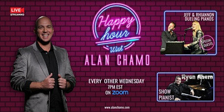 Happy Hour with Alan Chamo  | featuring  Dueling Pianos Jeff and Rhiannon tickets