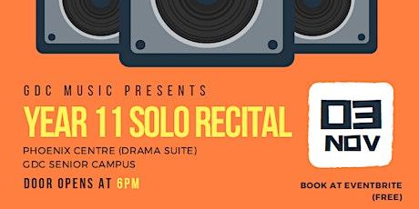 Year 11 Solo Recital Night tickets