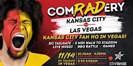 Comradery at StarBase: Kansas VS Las Vegas TAILGATE tickets