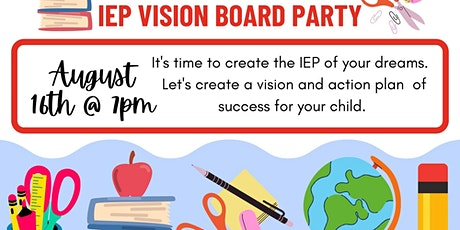 Back to School  IEP Vision Board Party tickets