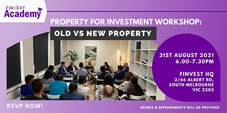 Property for Investment Workshop:  Old VS New Property tickets