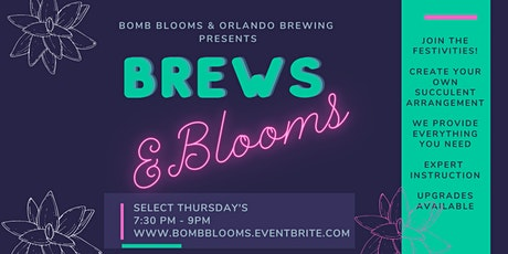 Brews & Blooms: Create your own succulent arrangement workshop tickets